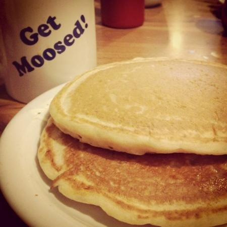 The Blue Moose: The pancakes are superb! Order with a side of yogurt instead of syrup.