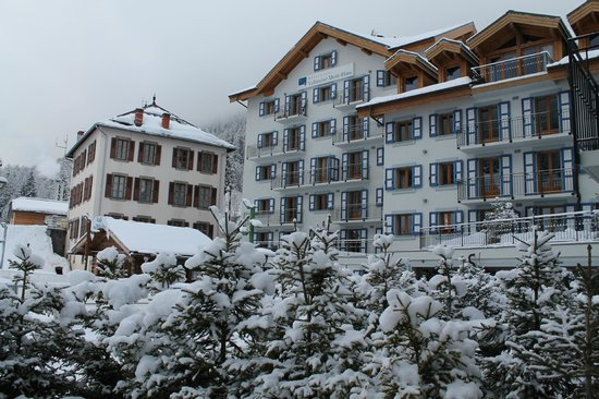 Residence & Spa Vallorcine Mont Blanc: Vallorcine in the snow!