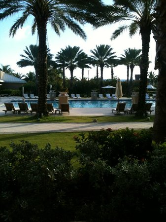 The Ritz-Carlton, Grand Cayman: View from our terrace in the resort side pool