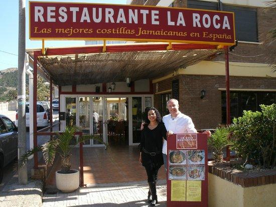 la roca caribische restaurant en grill: MICHA Y FARAD
