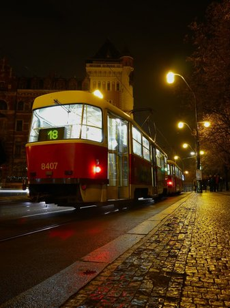 Smetana Hotel: The tram that stops out front hotel