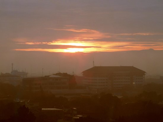 The Luxton Bandung: sunrise view from the room
