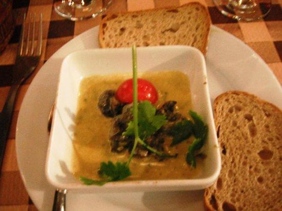 Cuisine de La Montagneet Traditionelle : escargots