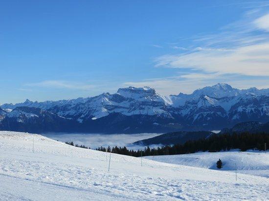 Montagne du Semnoz : La tournette et le mont blanc