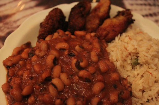 Bennachin Restaurant: Beans & Rice