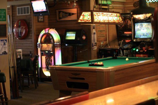 Beach Bar: Game Area: Pool Table, Shuffleboard, Pinball, Race Car And