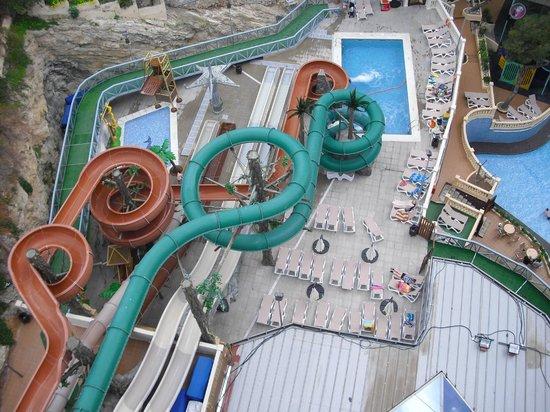 Magic Aqua Rock Gardens:                   large water slides