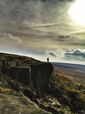 Stanage Edge: taking in the view