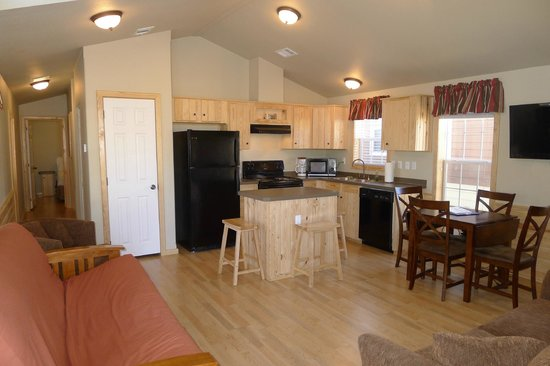 Hill Country Cottage and RV Resort: Kitchen/Living Room in Two Bedroom