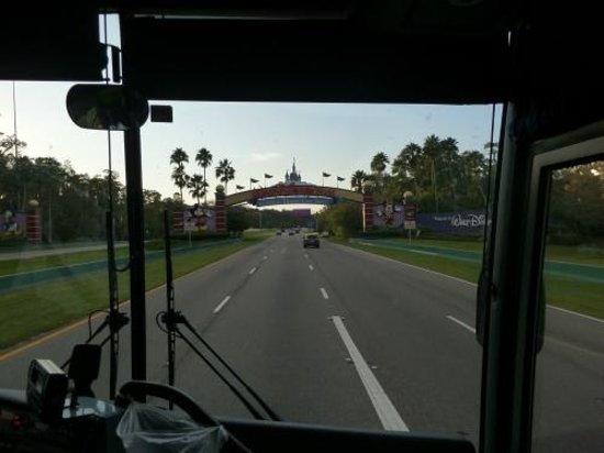 Disney's Saratoga Springs Resort & Spa: View from Magical Express entering WDW Gates