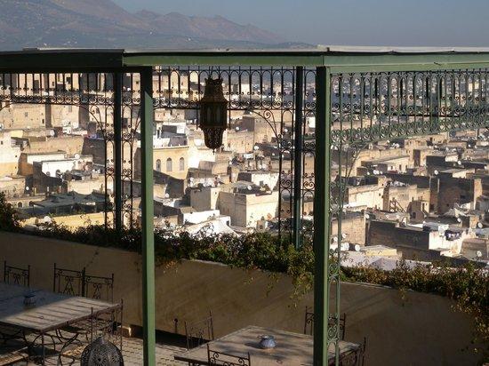 Riad Souafine : la grande tonnelle sur la terrasse supérieure