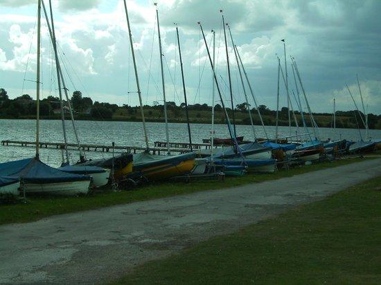 Hornsea Mere: Yachts.
