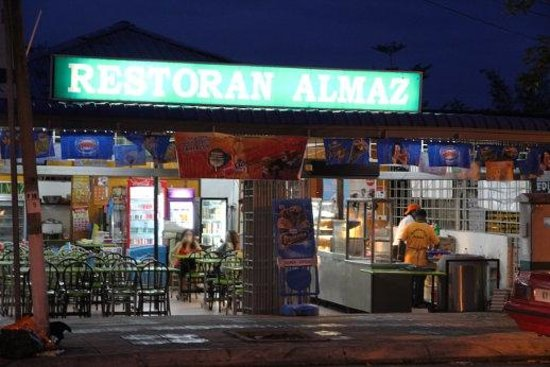 Restoran Almaz from the street