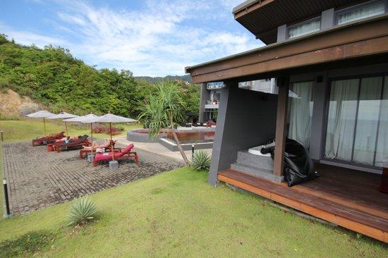 The Houben Hotel: Vue de la terrasse de notre chambre