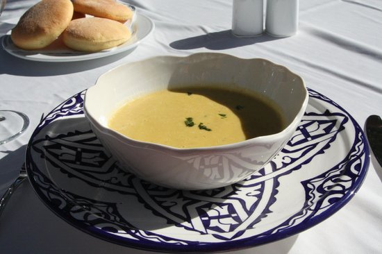 Riad Dixneuf La Ksour: Delicious soup for lunch