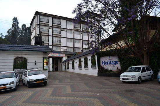Nahar's Nilgiris Hotel: view from car park