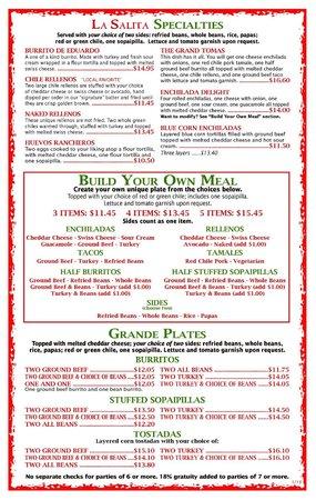 La Salita Restaurant : La Salita Menu PG3_2013