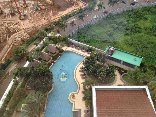 The Ritz-Carlton Jakarta, Mega Kuningan: view from my 19th floor room