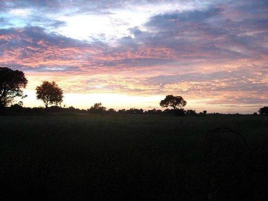 Gunn's Camp: Sunset on our last night.