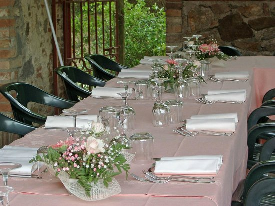 La tavola in occasione di una prima comunione foto di albergo ristorante da vestro monticiano - Addobbo tavola prima comunione ...