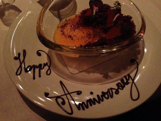 Acquerello: My hubby's choice of dessert