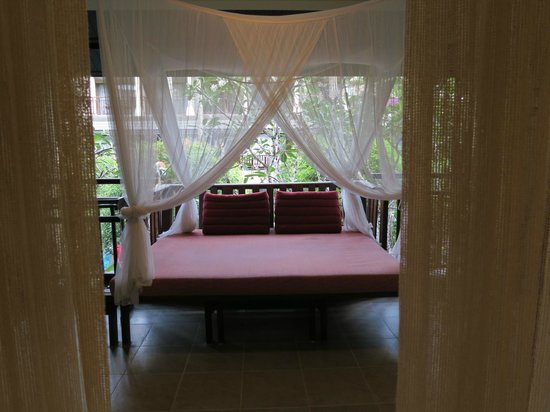 Burasari Resort: The Terrace and Day Bed Overlooking the Pool
