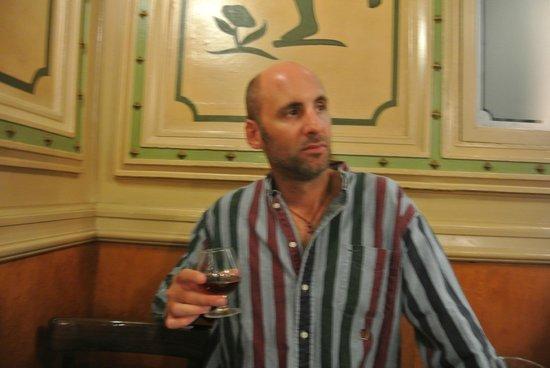 Cafe de L'Opera : Roving Professor drinks a post meal Brandy