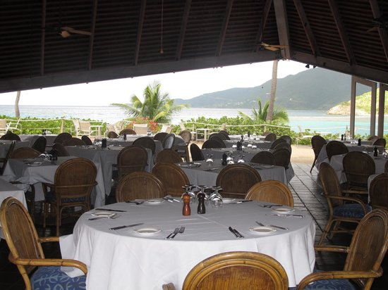 Rosewood Little Dix Bay: Pavilion restaurant