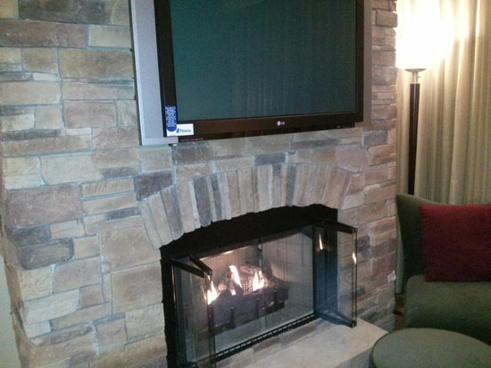 La Bellasera Hotel and Suites : Fireplace AND TV..what!?!