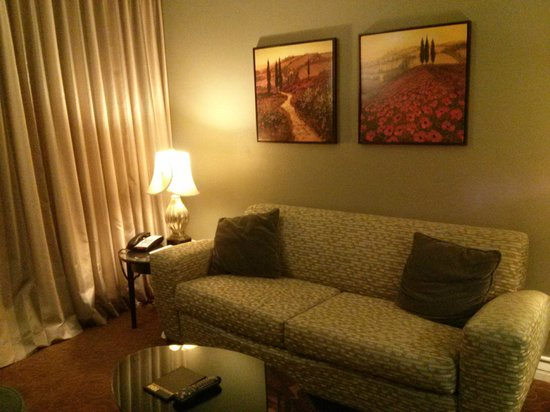 La Bellasera Hotel and Suites: One of the sitting areas..