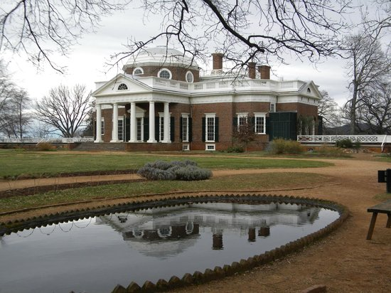 Monticello de Thomas Jefferson: backyard reflection