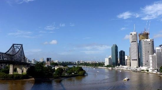 Adina Apartment Hotel Brisbane: view from hotel balcony towards the Brisbane river