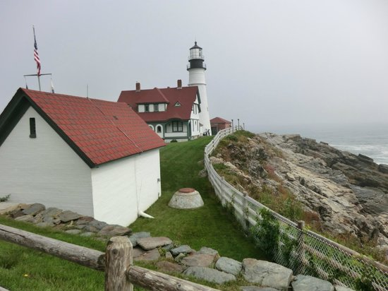 Portland Head Light: a different angle of the lighthouse