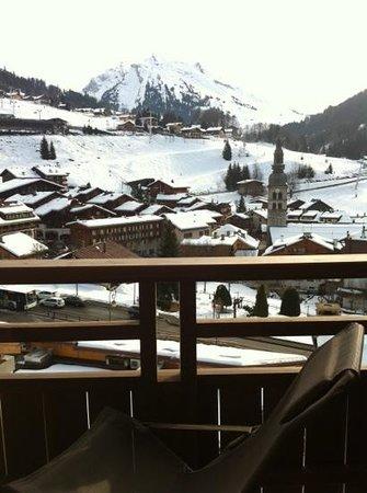 Les Grandes Alpes: vue de la terrasse