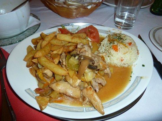 Scala Restaurant: citrus chiken with rice