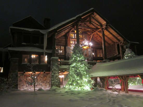 The Whiteface Lodge: Snow covered lodge