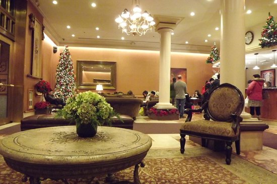 The Lucerne Hotel: The Lobby (At Christmas)