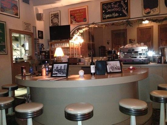 Little Village Cafe: vintage seating adds great atmosphere...