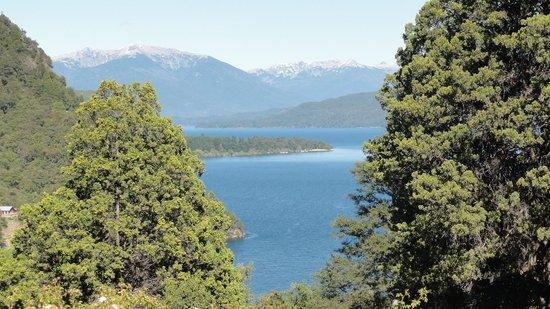 Cerro Abanico: Vista del lago desde la habitación