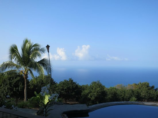 Haleakala Bed and Breakfast: View from the pool