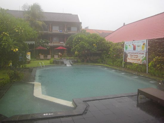 Ida Hotel: Ida pool in the rain