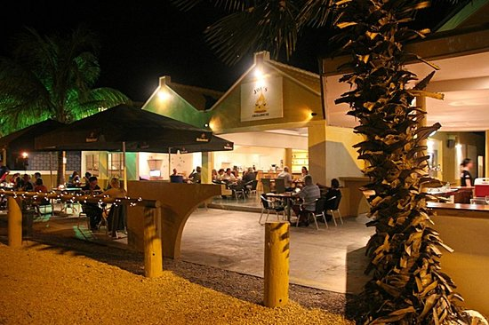Joe's Grillhouse after dark