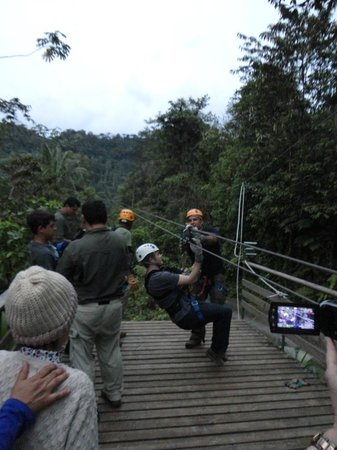 Rainforest Adventures: End of zipline