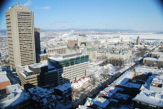 Hotel Le Concorde Quebec: Day view from room (top floor)