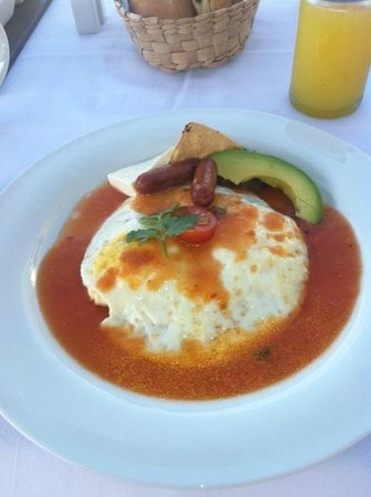 Hotel Cinco Sentidos: Huevos Rancheros