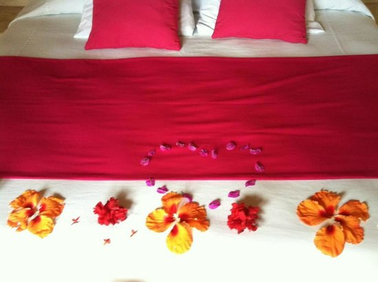 Hotel Cinco Sentidos: Beautiful Flowers in Room