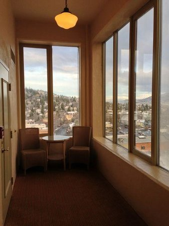 Ashland Springs Hotel: From the 9th. floor, the whole town is open before you.