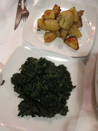 Osteria Pepo: Spinach and roasted potatoes