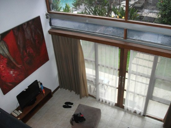 Villa Puri Ayu: looking down from bedroom