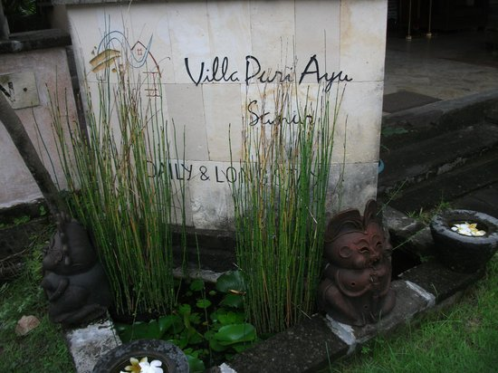 Villa Puri Ayu: welcome sign